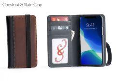 Aria iPhone 11 Pro Wallet Cases-Chestnut-Standard Strap