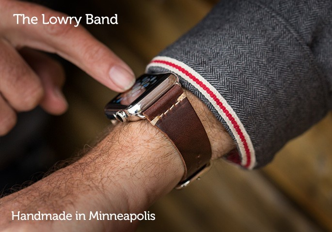 Bright Lights, Big City, A Leather Apple Watch Band to Match