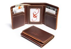 Mens Classic Trifold  Leather Wallets