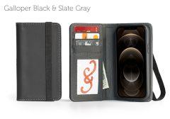 Bella Fino Edition iPhone 12 Pro 6.1-Galloper Black & Slate Gray-Standard Strap