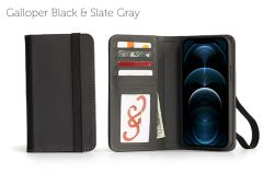 Bella Fino Edition iPhone 12 Pro 6.7-Galloper Black & Slate Gray-Standard Strap