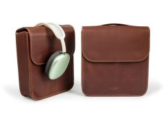 The Brief AirPods Pro Max Leather Case-Chestnut