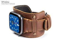 Cafe Cuff Bands for Apple Watch-Whiskey-Matte Black
