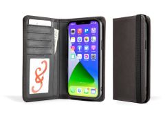 LeatherSafe™  Pocket Book For iPhone 13 Pro Max-Galloper Black & Slate Gray