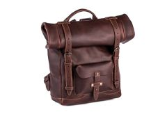 Heritage Rolltop Leather Laptop Backpack