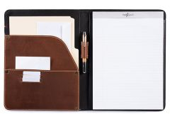 Luxury Leather Padfolio & iPad Holder