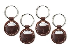 Mighty AirTag Leather Keychain-4 Pack-Chestnut
