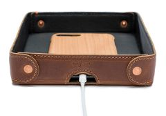 Small Leather Desk Organizer Tray
