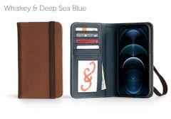 Bella Fino Edition iPhone 12 Pro 6.7-Whiskey & Deep Sea Blue-Standard Strap