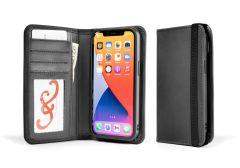 LeatherSafe™ Pocket Book for iPhone 13 Pro-Galloper Black & Slate Gray