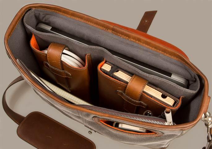 organize messenger bag