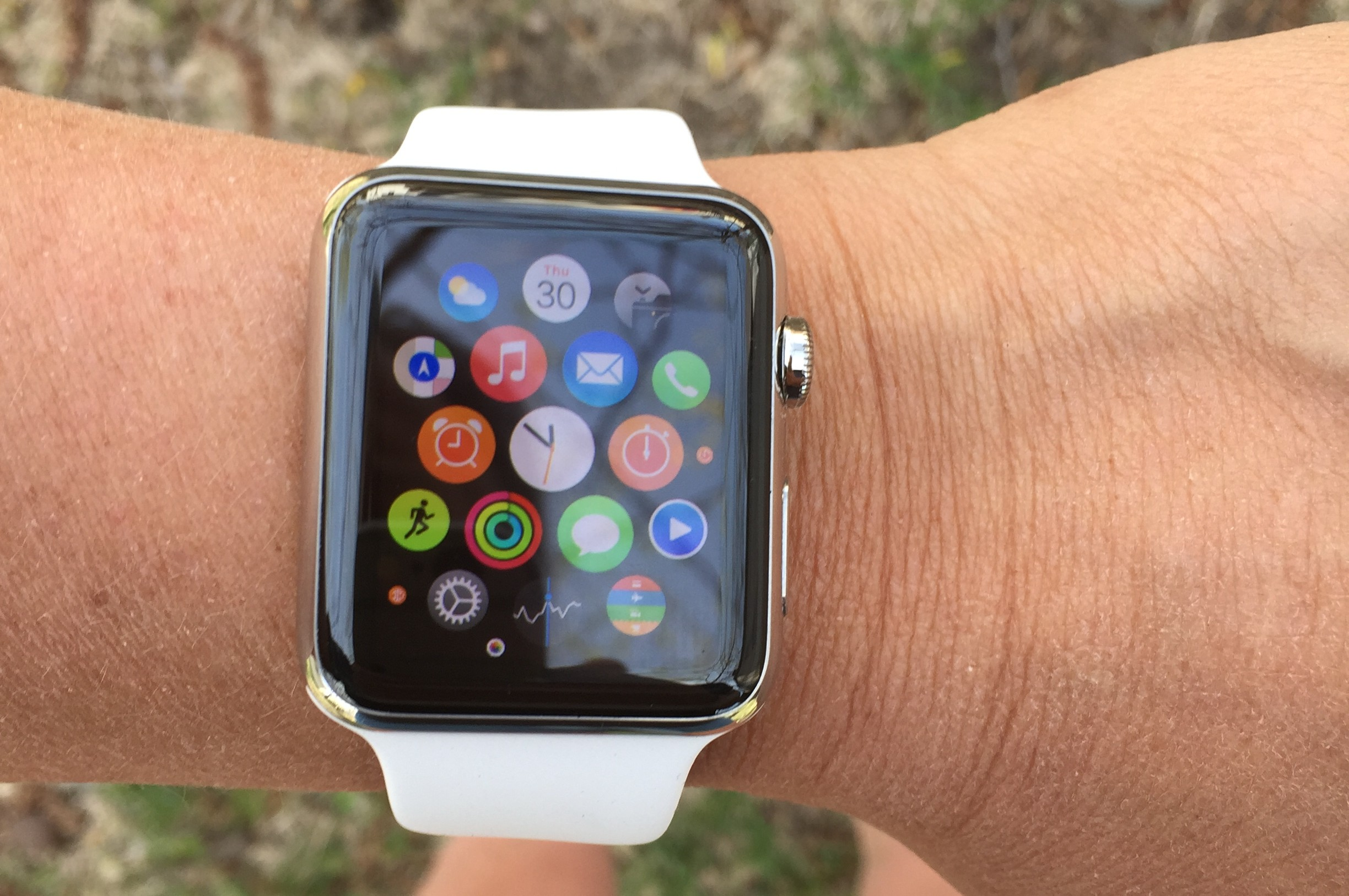 Mrs PQ gets the first Apple Watch