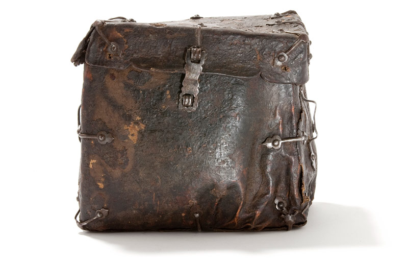 ancient leather briefcase
