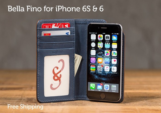 leather iPhone 6 slim wallet case