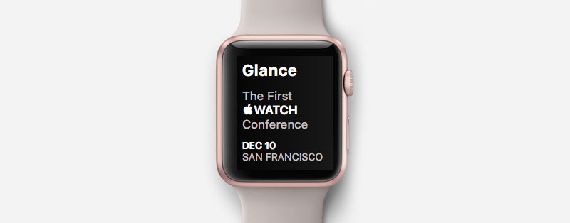 apple watch news glance conference