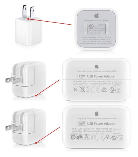 Plug adapters for iPhone Charger