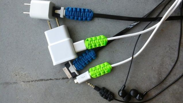 fix iphone charger with paracord
