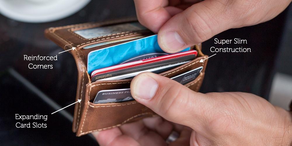 best slim leather wallet for men