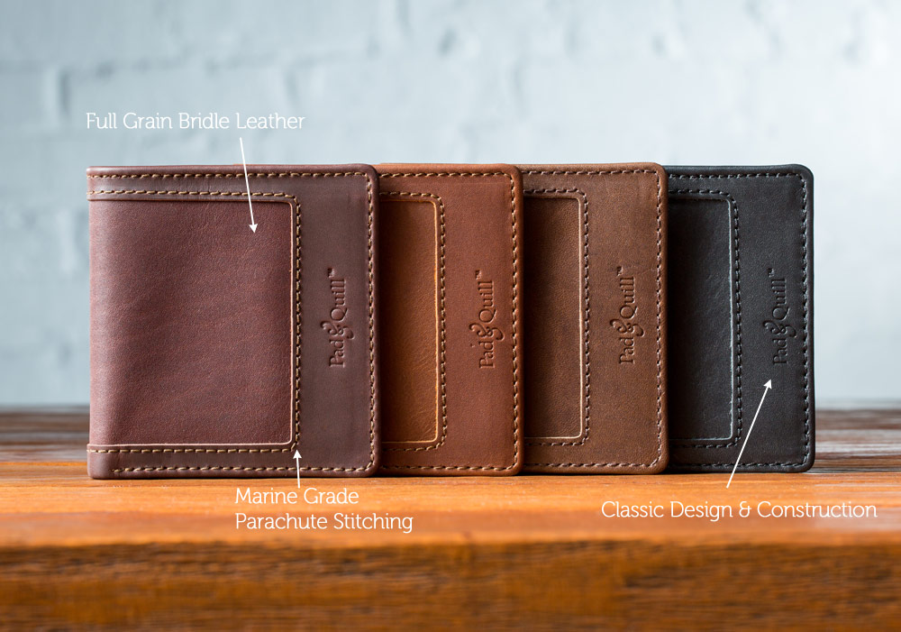 full grain leather wallet for men