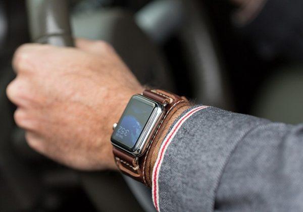 lowry leather apple watch cuff