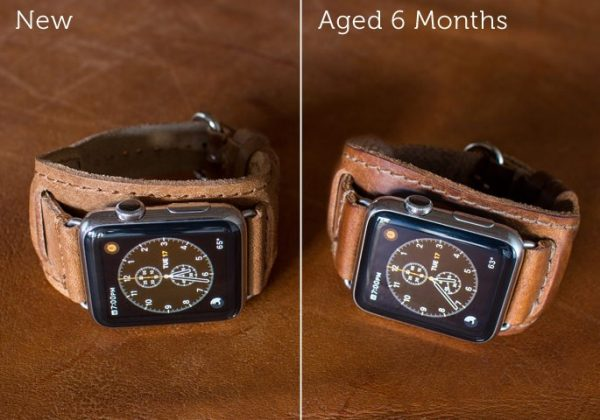 Lowry Luxury leather Cuff for apple watch aged 6 months