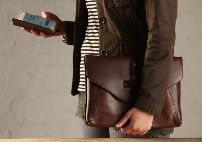 leather MacBook pro bag