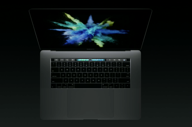 Apple touch bar MacBook
