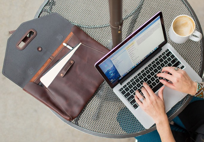 valet luxury leather bag for MacBook Pro