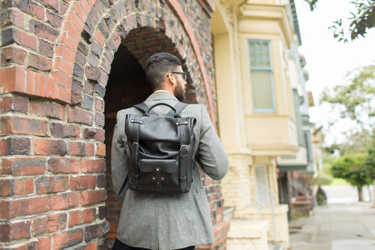 leather multifunctional bag