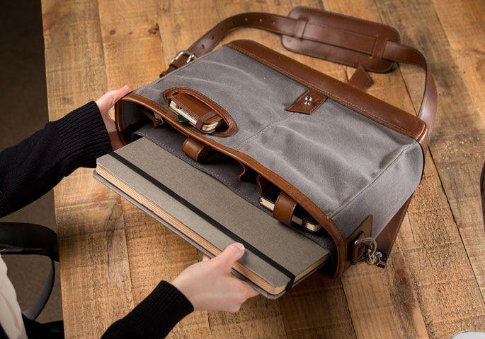 leather satchel storage