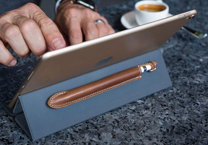 leather apple pencil case