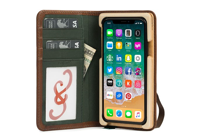luxury book iphone x leather wallet case