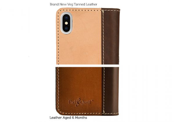 aging veg leather