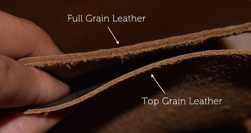 full-grain vs top grain