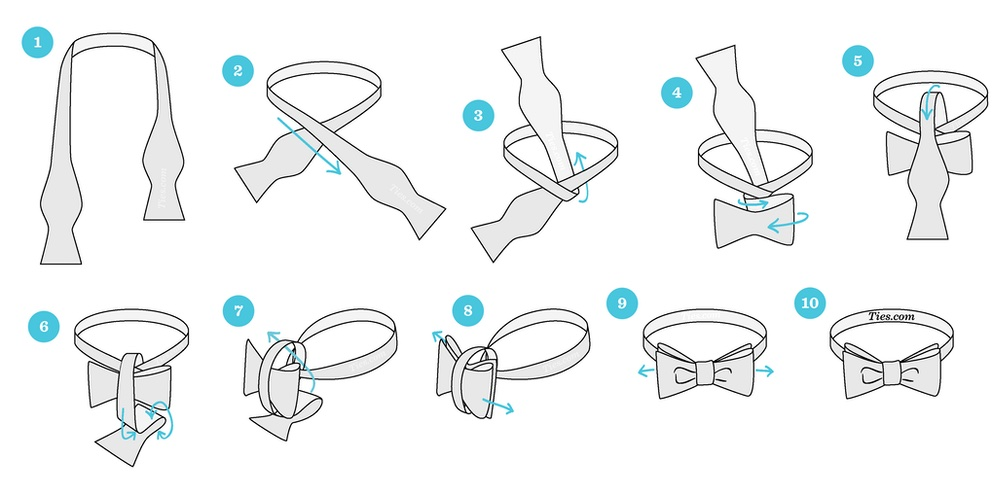 how to tie bow ties
