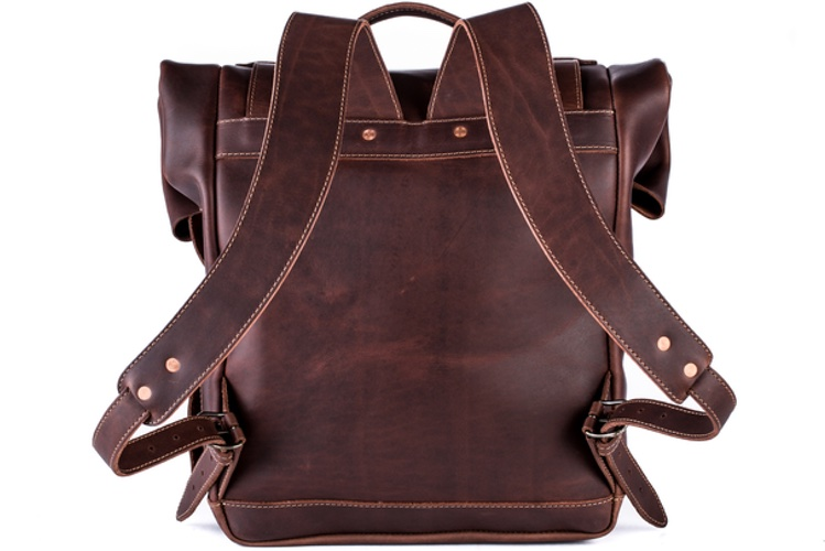 leather rolltop backpacks