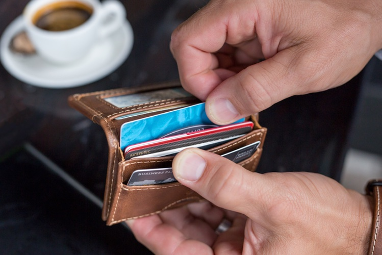 leather credit card wallets for men