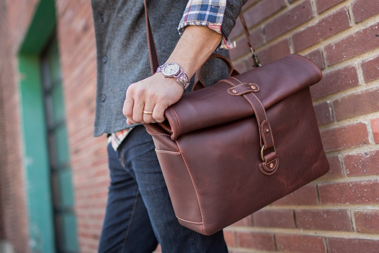 leather satchel bags for men