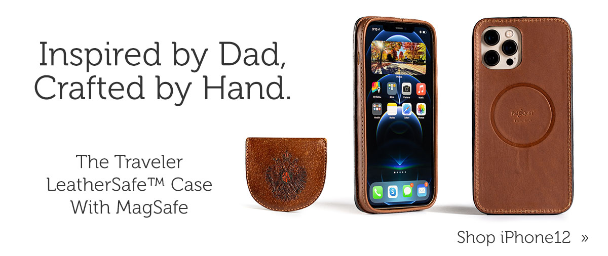 The Traveler LeatherSafe Case for iPhone 12